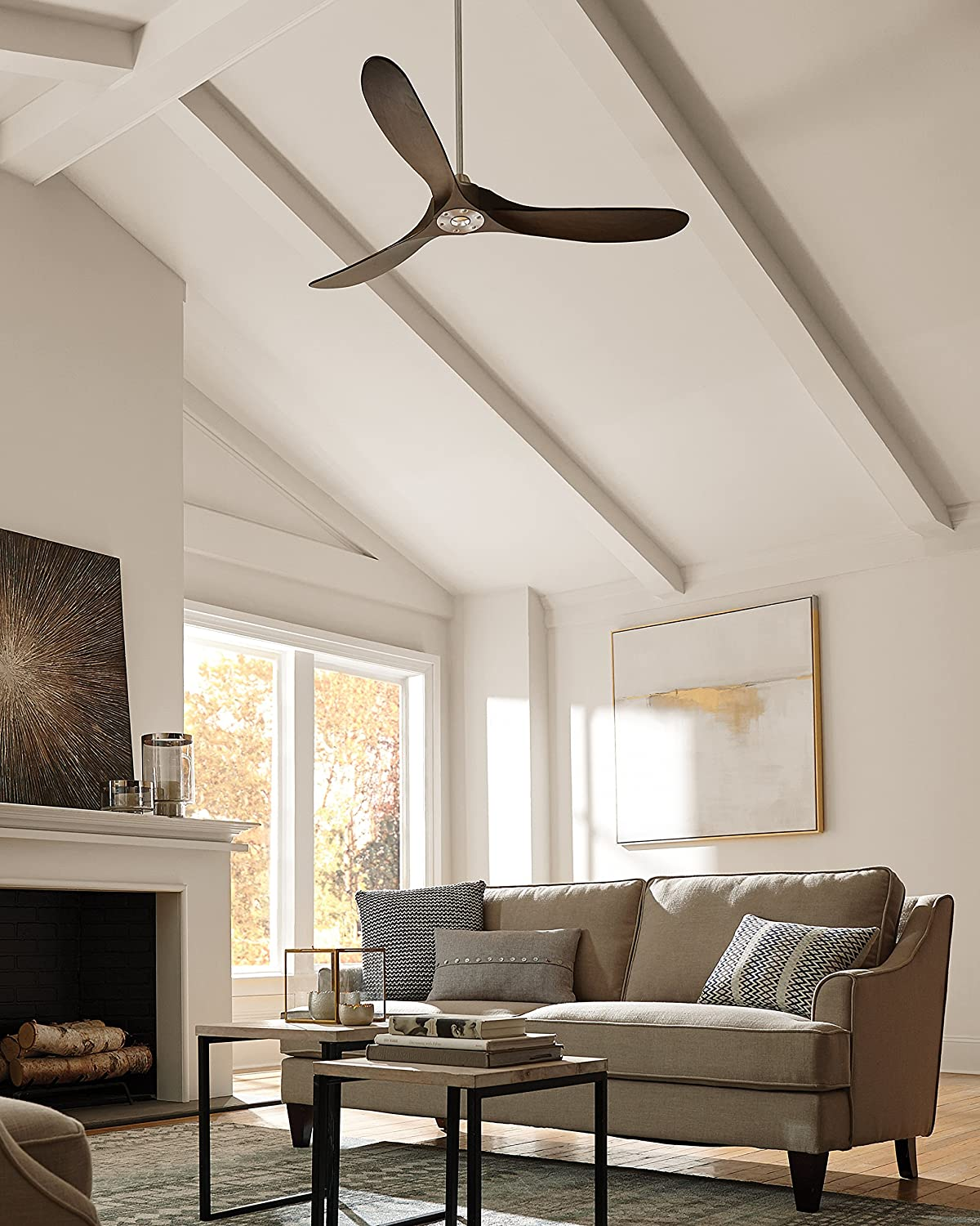 Monte Carlo 3mavr60bk Maverick Ceiling Fan With Remote 60 Inch Electric Install Page 4 Matte Black Dark Walnut Blades