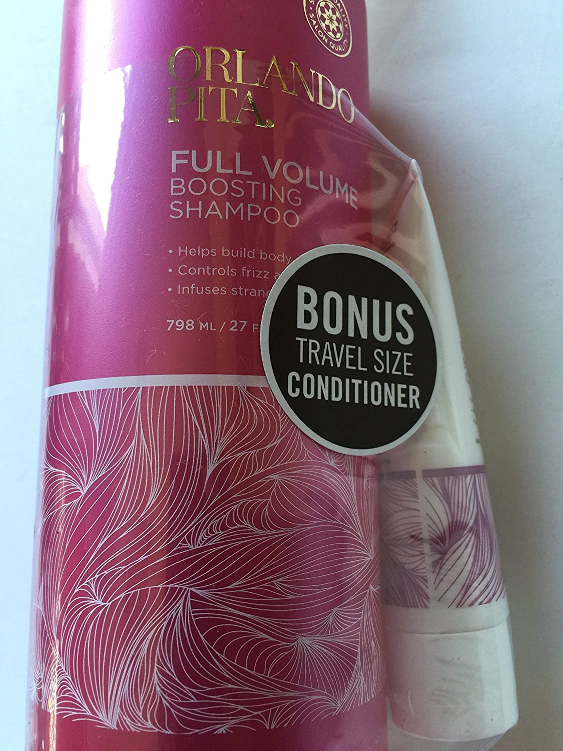 Amazon.com : Orlando Pita Full Volume Boosting Sampoo & Conditioner Set (Each 27 Floz) : Beauty