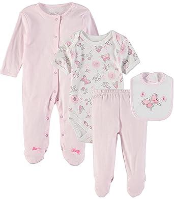 a24f803a0 Amazon.com: Rene Rofe Baby Baby Boys' Little Kids Newborn 4 Pc Coverall  Bodysuit, Pant & Bib Set: Clothing
