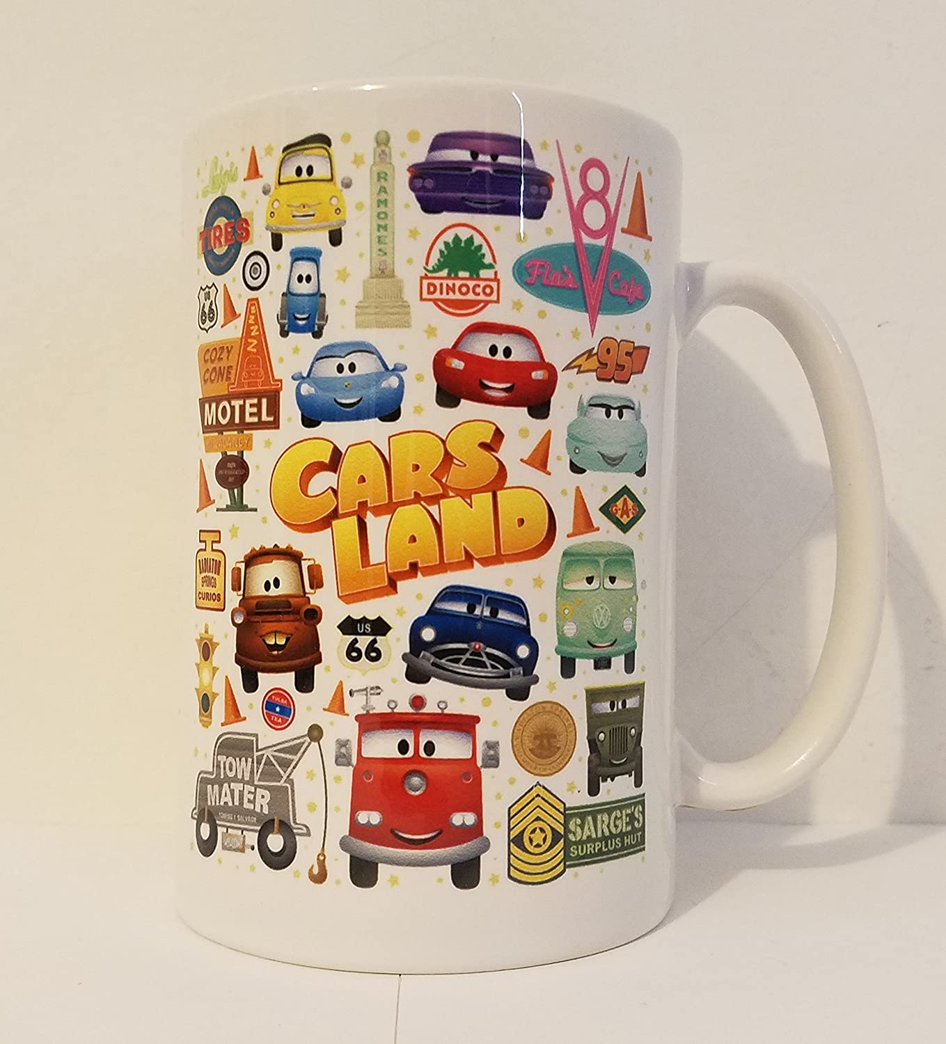 isney WonderGround Cars Cutest Little County Ceramic Mug Jerrod Maruyama