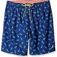 6e07d6668eef1 Nautica Men's Big and Tall Quick Dry Half Elastic Waist Signature Print  Swim Trunk