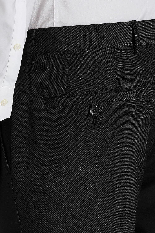 Smart Classic Mens Formal Plain Fron Busines Office Suti Trousers Slim//Skinney//Regular Fit 3 Colors Black