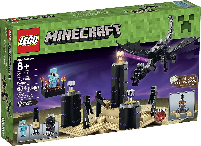 Amazon Com Lego Minecraft 21117 The Ender Dragon Toys Games