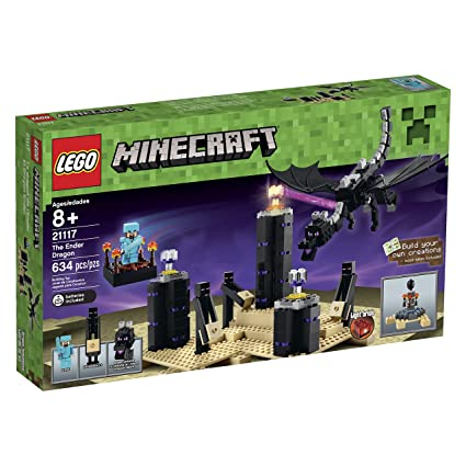 amazon com lego minecraft 21117 the ender dragon toys games