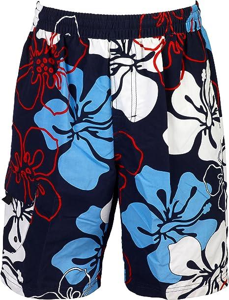TALLA S. mareno®-Bañador para hombre con moderno diseño floral en color azul, rojo o negro