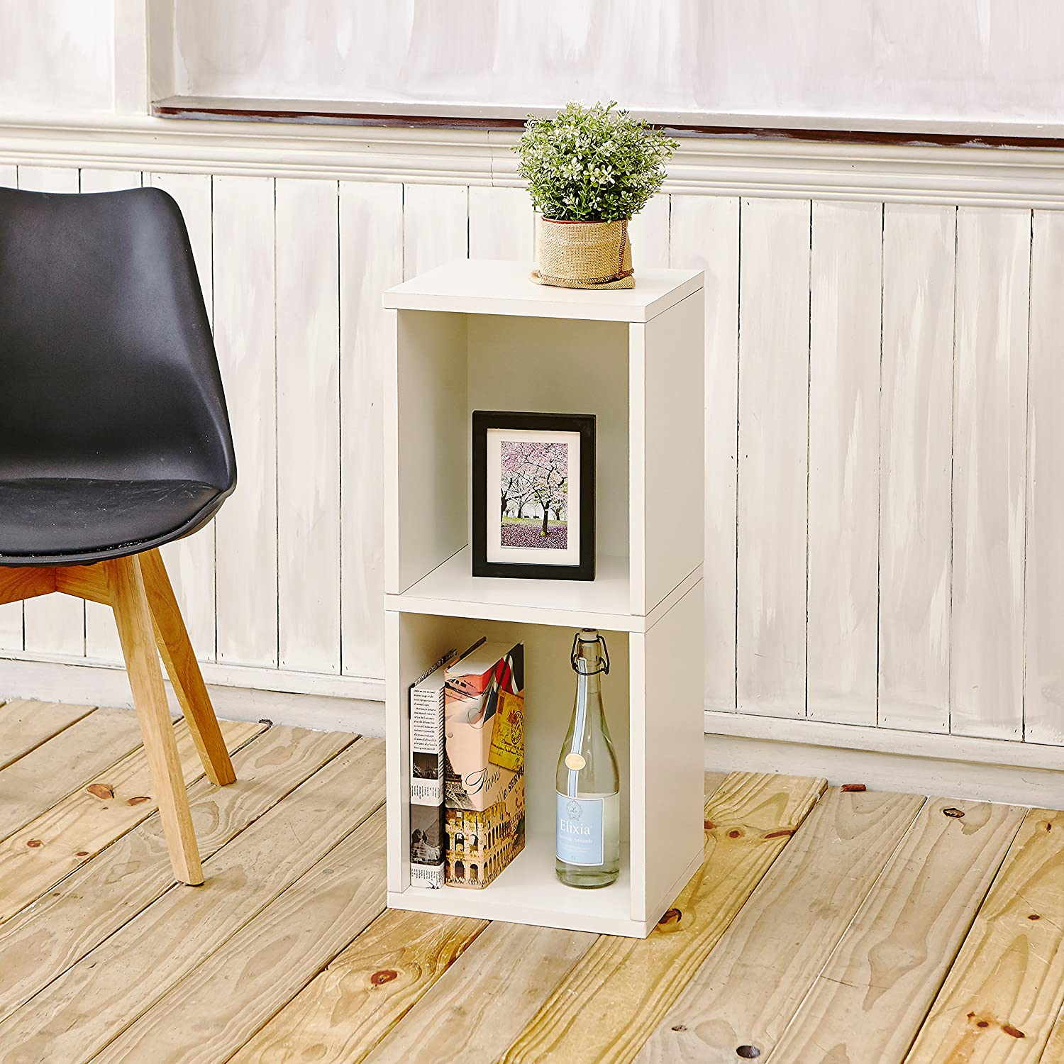 way basics eco 2 shelf narrow bookcase and storage