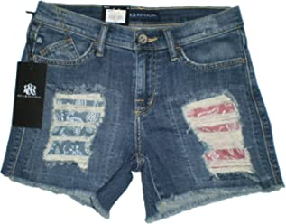 edc95dd092 Rock   Republic Women s Hula Cut Off GiddyUp Gurl Blue Jean Short New