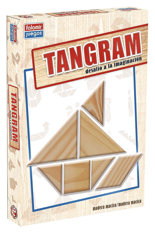 Falomir- Tangram Madera, Juego de Mesa, Educativo (646484)