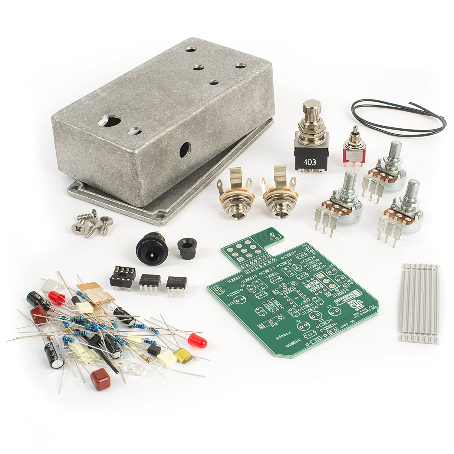 Jhs All American Distortion Diy Pedal Kit Musical Circuit Board On Vintage Cigar Box 808 Overdrive