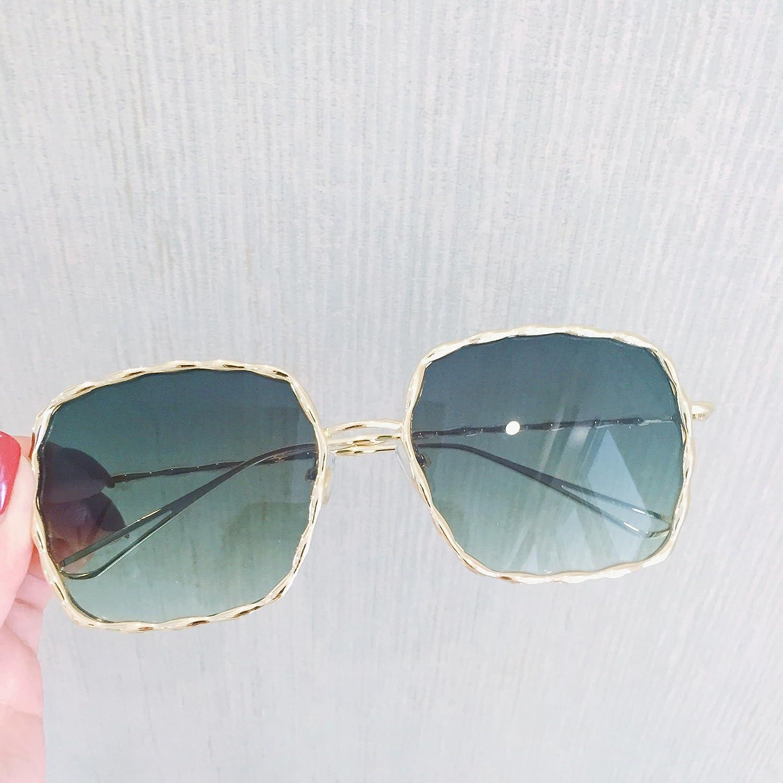 7d672c91c6 VVIIYJ gafas de sol transparentes femeninas del verano marco grande  cuadrado torcedura espiral gafas de sol