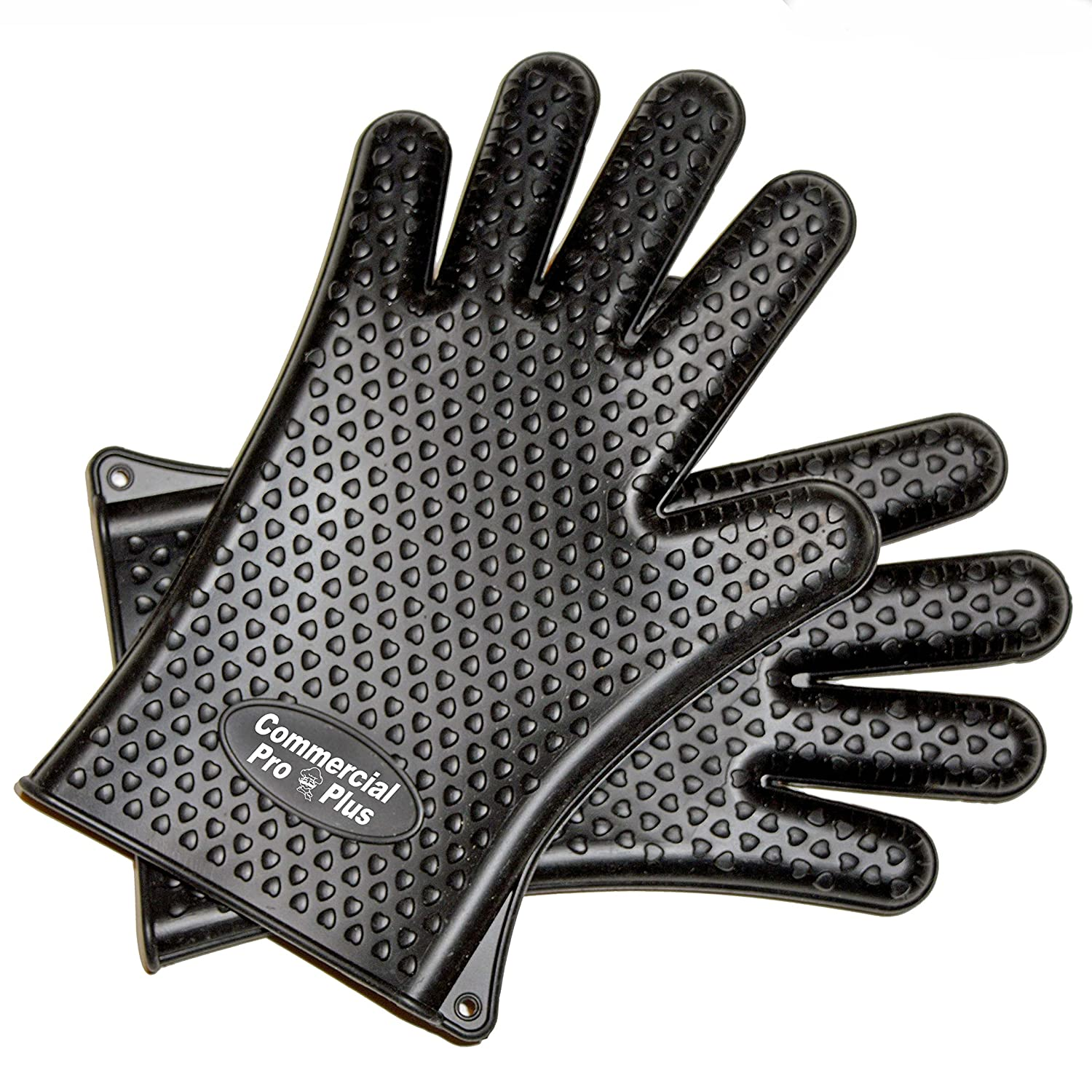 BBQ Silicone Cooking Gloves Heat Resistant Designed Specifically as BBQ Smoking Gloves & Silicone Grill Gloves.