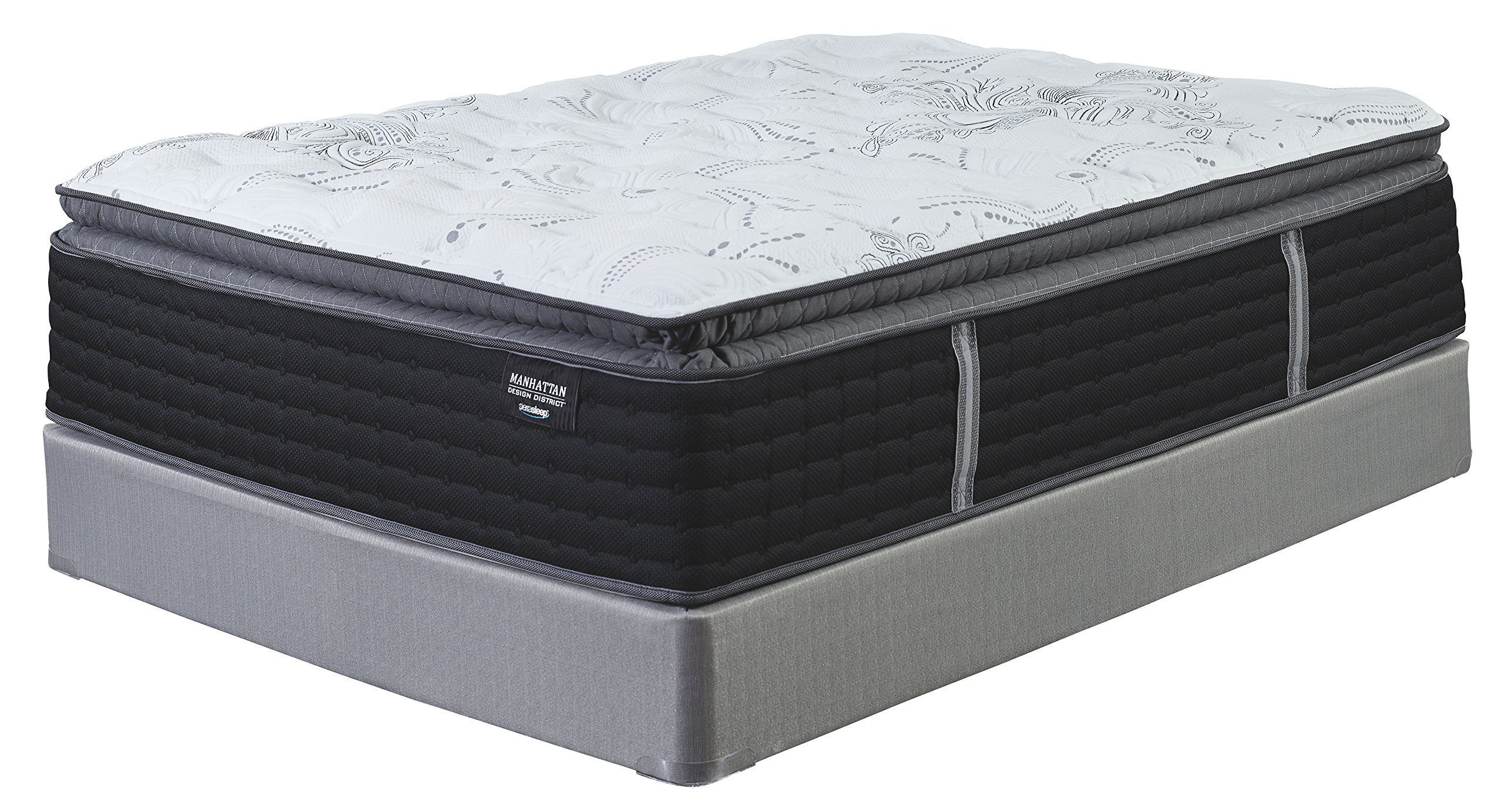 Ashley Furniture Signature Design - Sierra Sleep - Manhattan Design District Plush Pillowtop Mattress - Traditional Cal King Size Mattress - White