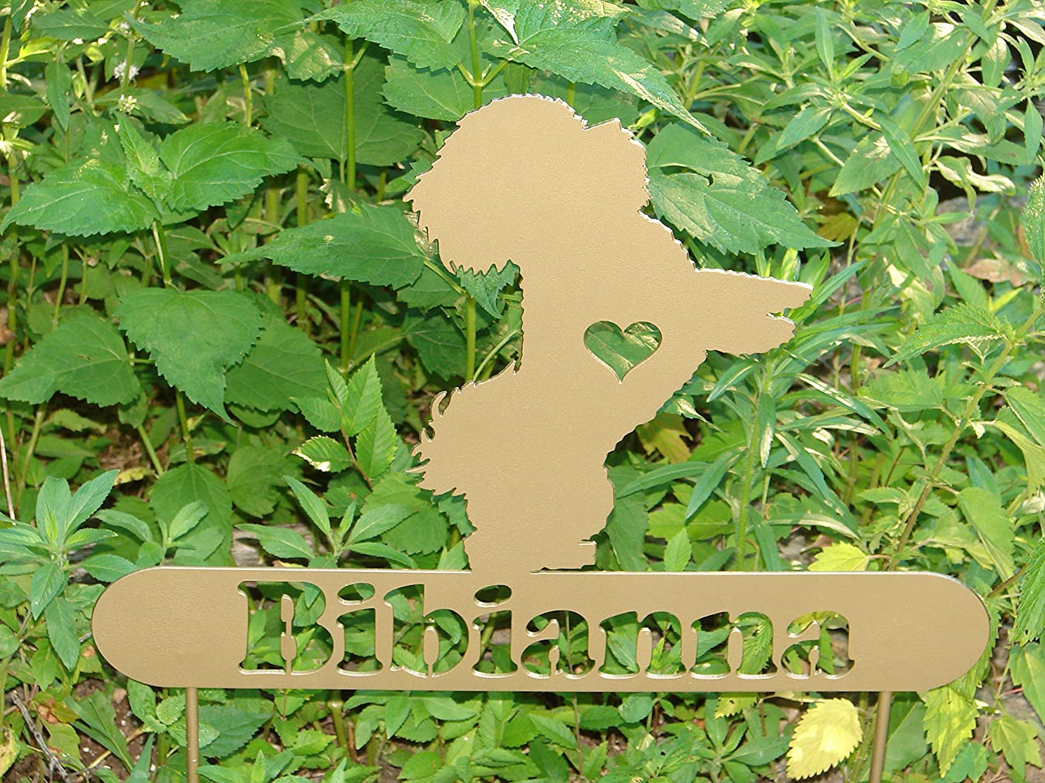 Bichon Frise Personalize Pet memorial Garden Stake Dog