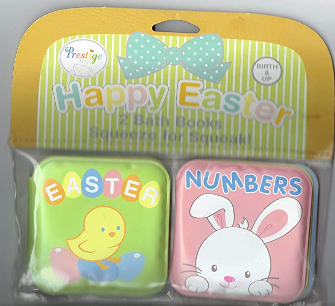 Amazon.com : Prestige HAPPY EASTER 2 Bath Book Squeeze for Squeak! PINK : Everything Else