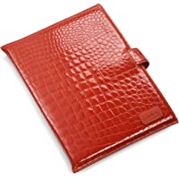 """Cole Haan Hand-Stained Patent Crocodile Print Kindle DX Sleeve (Fits 9.7"""" Display, Latest and 2nd Generation Kindles…"""