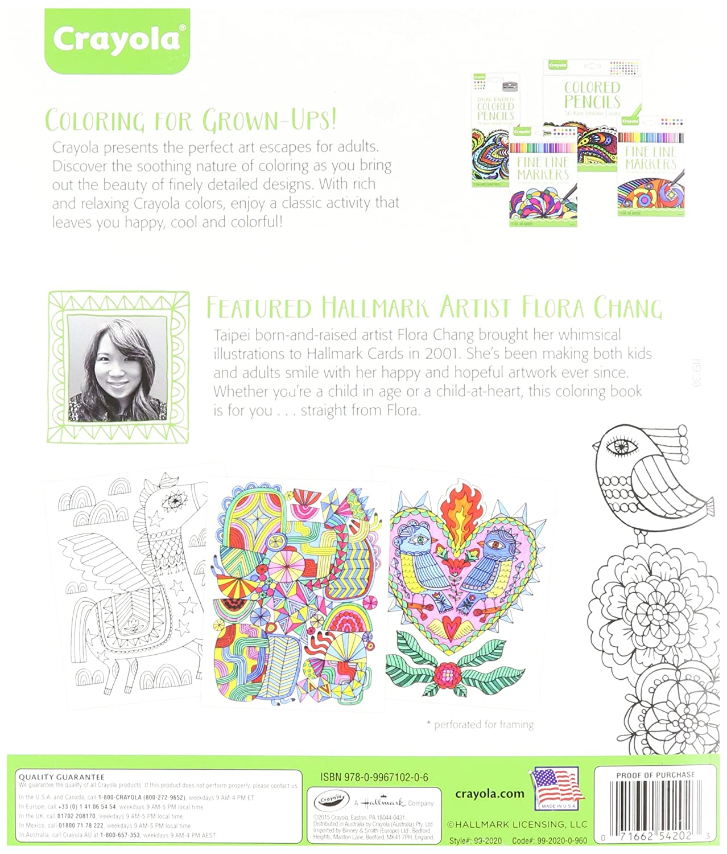 Amazon Crayola Folk Art Escapes Coloring Book Toys Games