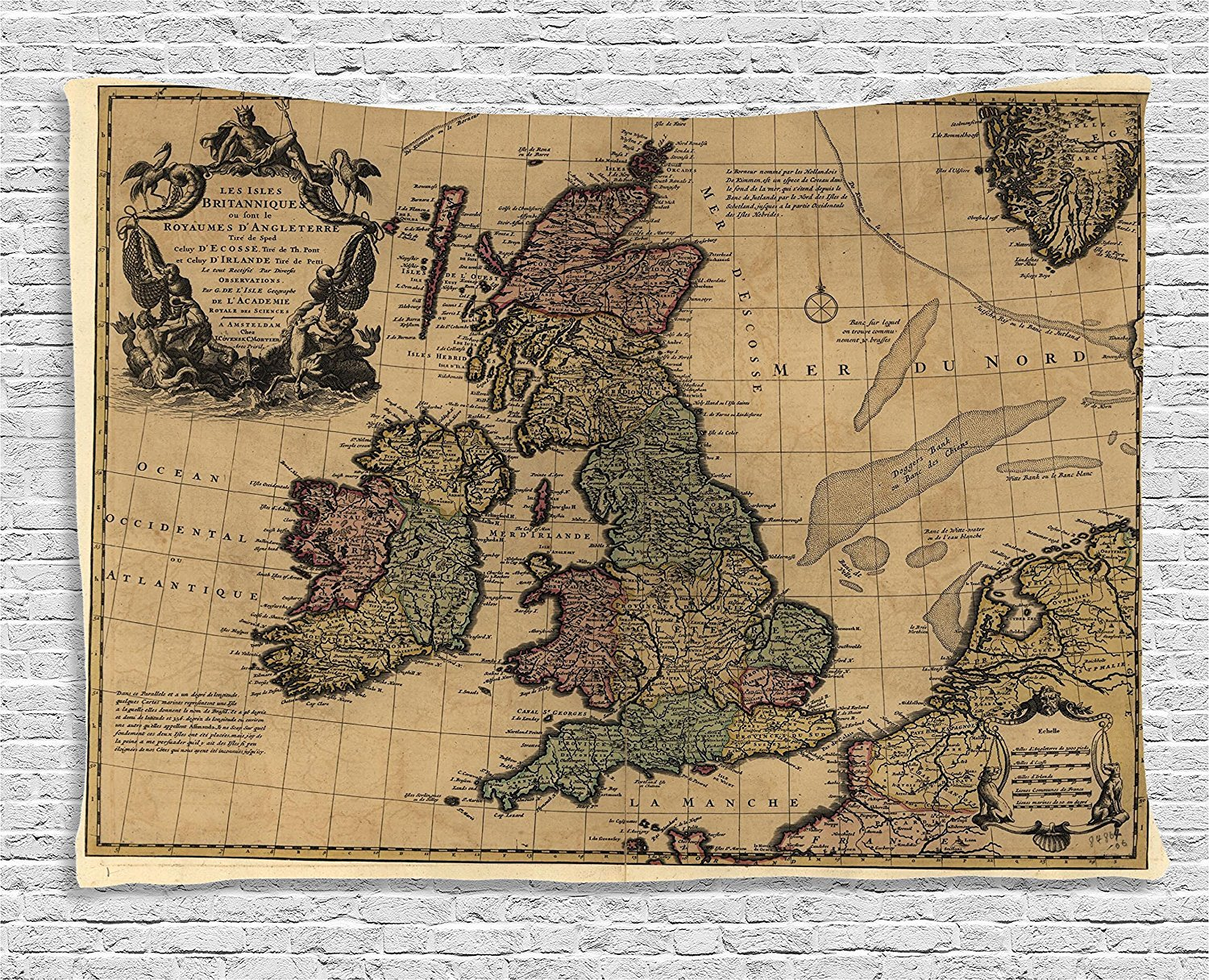 British Islands Scotland England European History Books Britain Grungy Artwork Ambesonne Wanderlust Decor Collection 80W X 60L Inch Bedroom Living Room Dorm Wall Hanging Tapestry