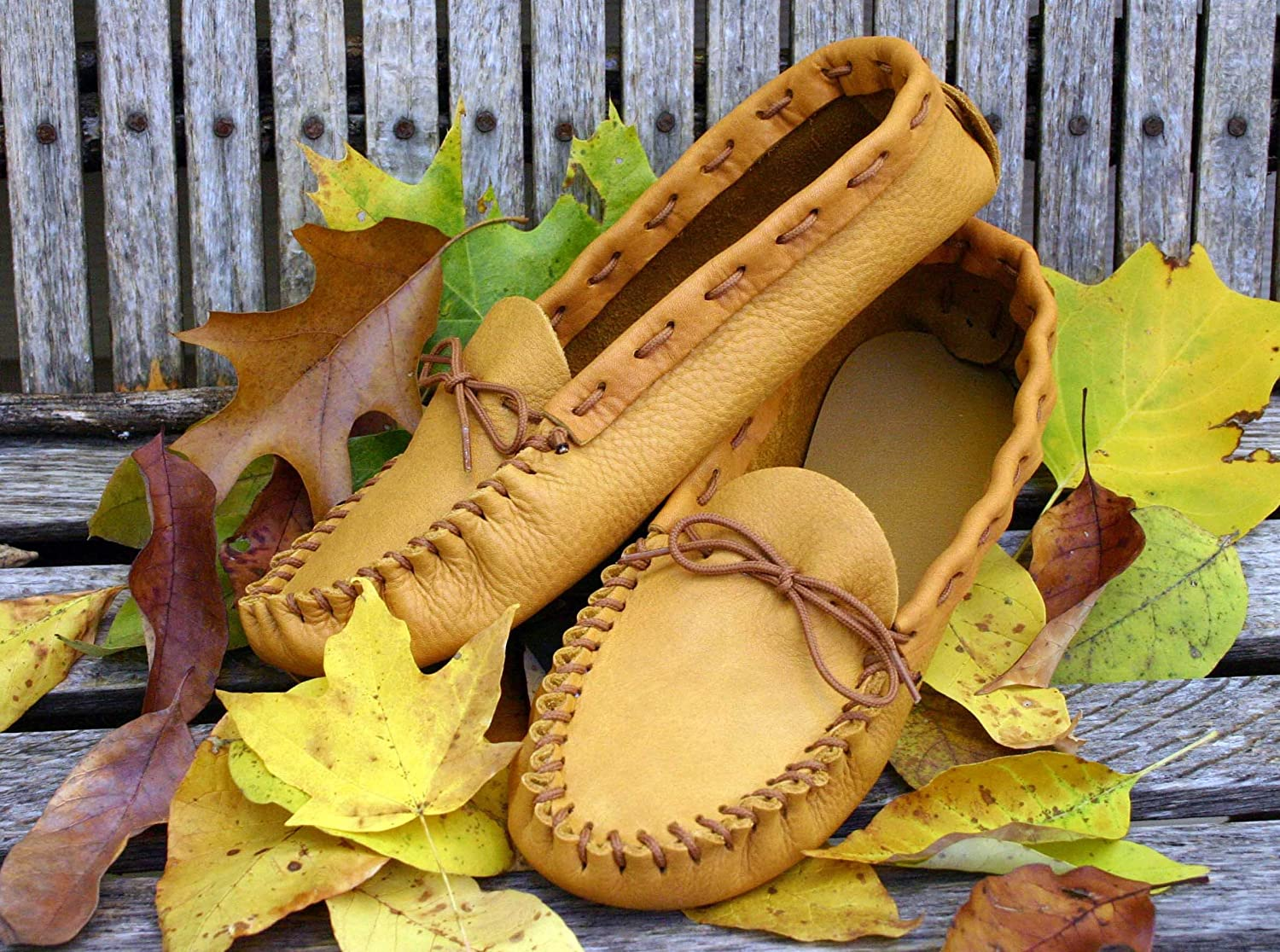 Golden Brown Realeather Crafts Leathercraft Kit Scout Moccasin-Size 10//11 10//11-Size