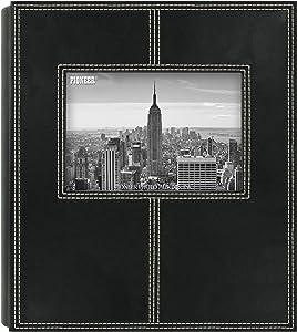Pioneer Photo Albums 2PS-160 160-Pocket Sewn Leatherette Frame Cover Photo Album, Black