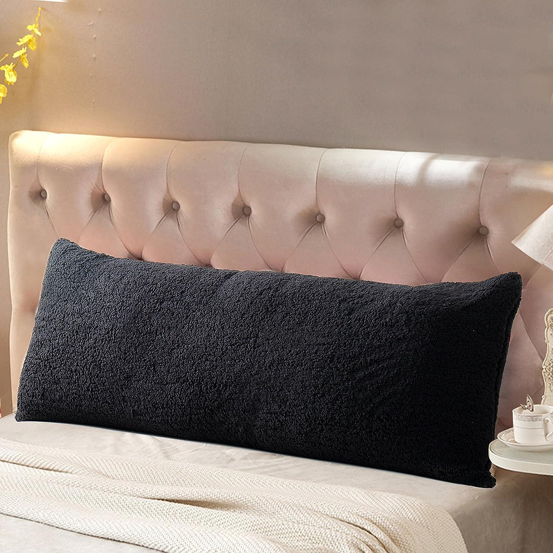 Reafort Ultra Soft Sherpa Body Pillow