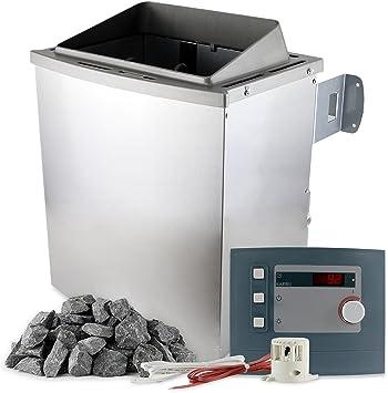 Karibu Saunaofen 9 kW mit Steuerung 20 kg Saunasteine 400 V ...