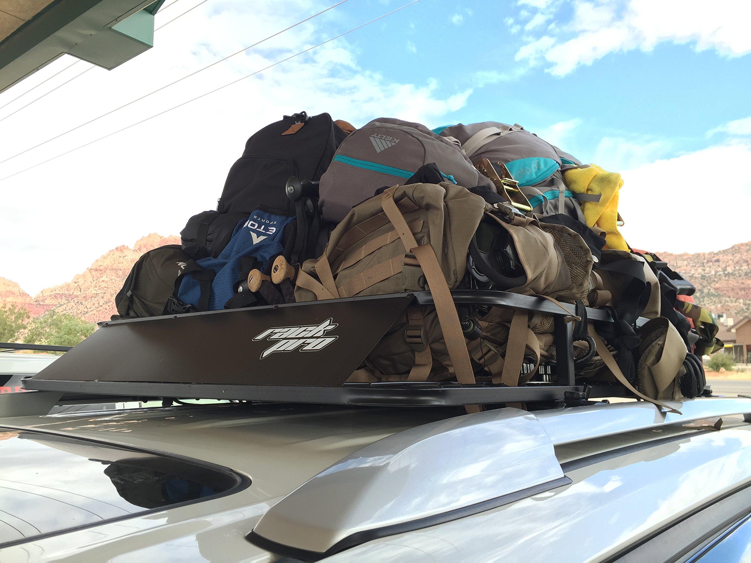 Universal Roof Rack Cargo Car Top Luggage Carrier Basket Traveling SUV Holder