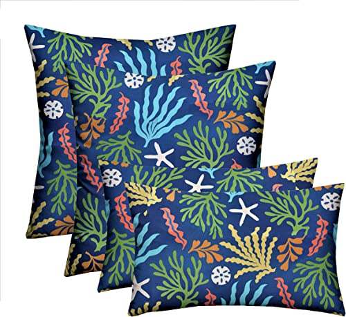RSH D cor Indoor Outdoor 2-20 x20 Square 2-20 x12 Rectangle Pillow Set Weather Resistant – Choose Pillow Color 4-Bashor Pacific Pillow Set