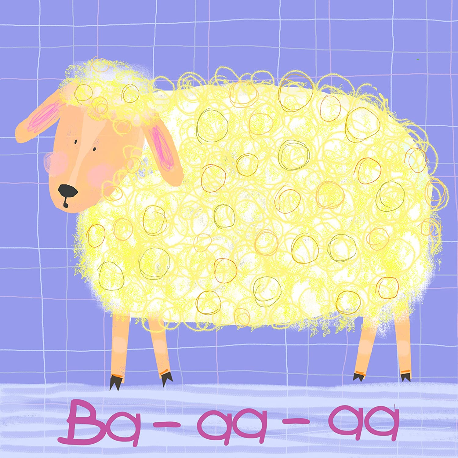 Amazon.com: Oopsy Daisy Sheep Says Ba-aa-aa Stretched Canvas Wall ...