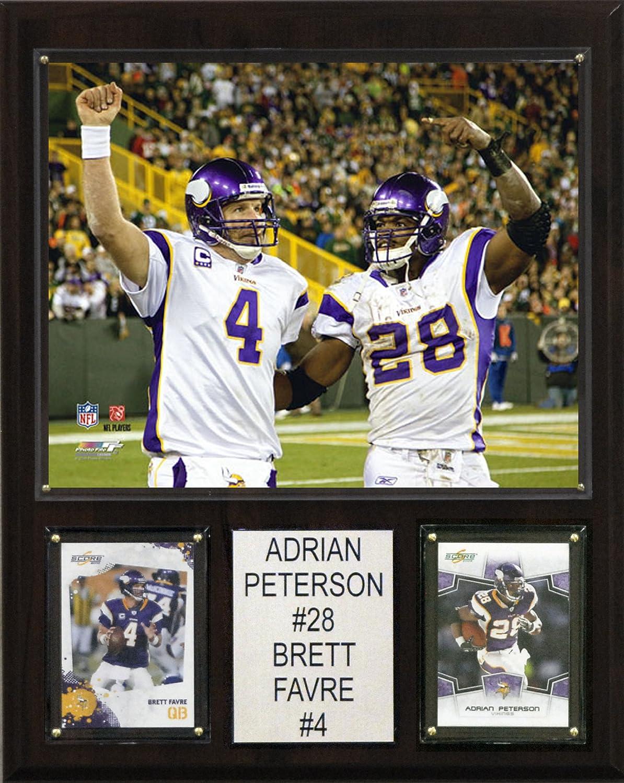 da5f802161fe0 Amazon.com   NFL Adrian Peterson-Brett Favre Minnesota Vikings Player  Plaque   Sports Fan Decorative Plaques   Sports   Outdoors