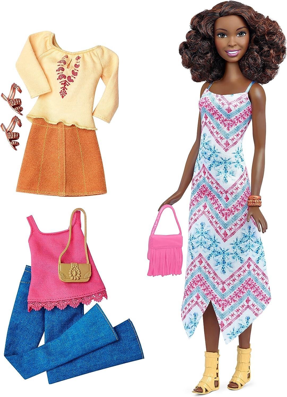 Amazon.es: Barbie - Muñeca Fashionista, Vestido Largo (Mattel ...