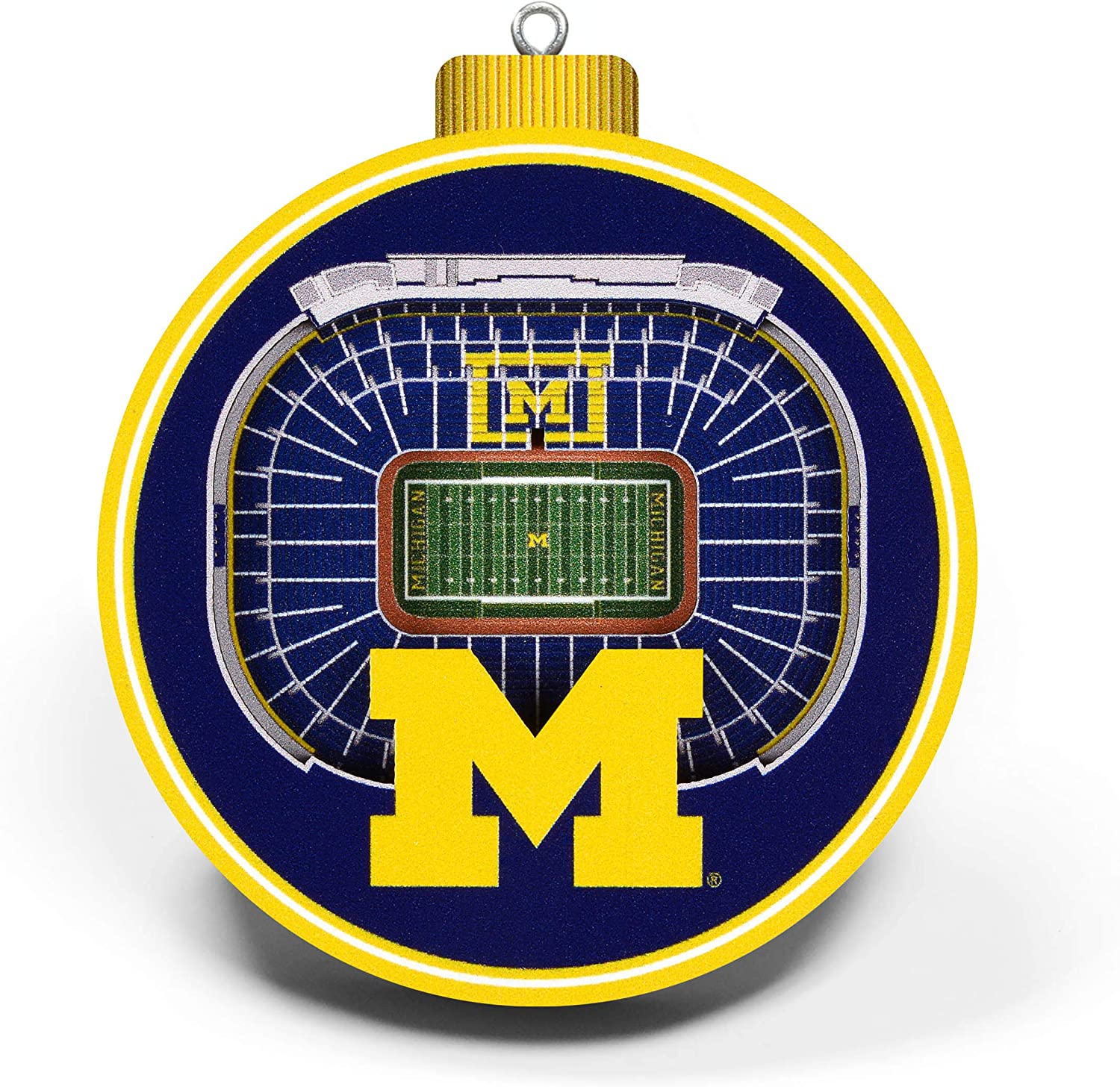 NCAA Michigan Wolverines 3D Stadium View Ornament Large Team Colors