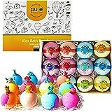 Kids Bath Bombs Gift Set - 12 4.2 oz Surprise Bath Bombs for Kids with Toys Inside! Make Bathtime Fun with Moisturizing…