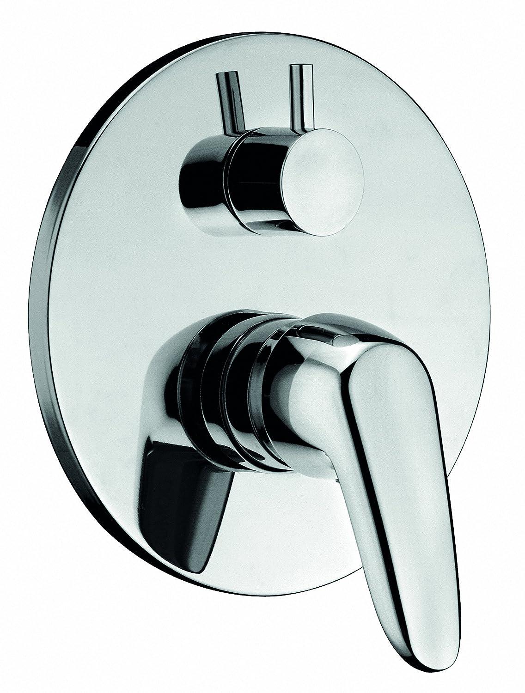 Rubinetto miscelatore con deviatore 2 vie per doccia ad incasso serie BRIXIA art.3720 - MADE IN ITALY - GARANZIA 5 ANNI Sole rubinetterie