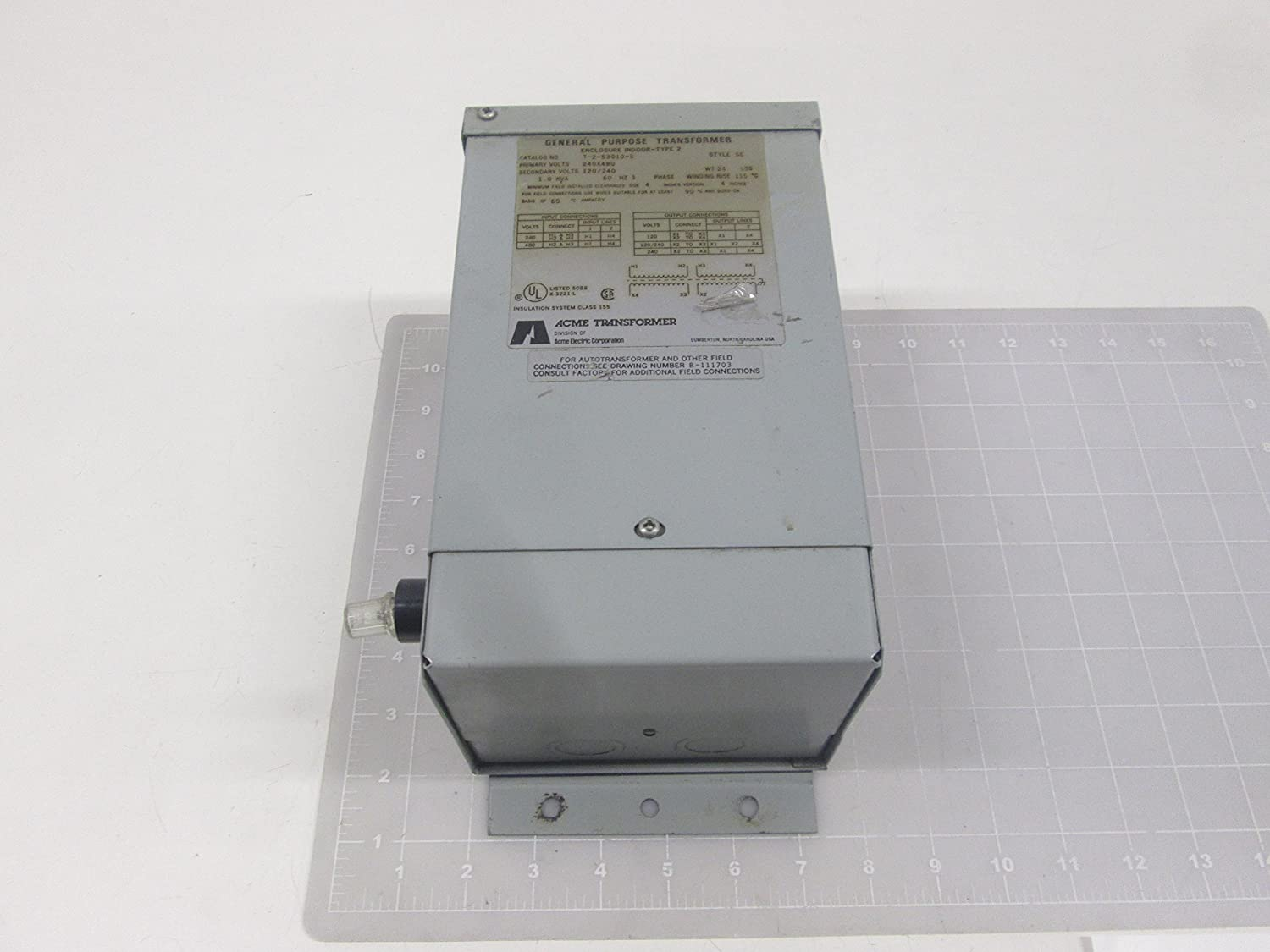 Hubbell Acme Electric T253010S Low Voltage Distribution Transformer ...