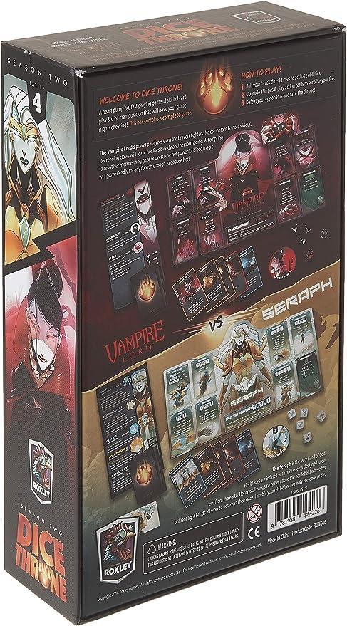 Roxley Dice Throne Season Two: Seraph VS Vampire Lord -Expansión Juego de Mesa [Inglés]: Amazon.es: Juguetes y juegos
