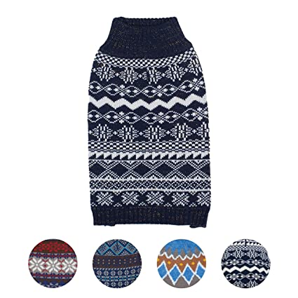 Amazon Blueberry Pet 4 Patterns Vintage Tinsel Knit Fair Isle