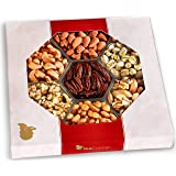 Nut Cravings Gourmet Nut Large Gift Tray with Striking Presentation – 7-Section Birthday Holiday or Anytime Assorted Nuts Gift Basket