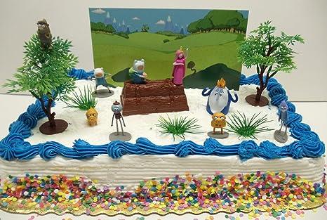 amazon com adventure time and regular show birthday cake topper set