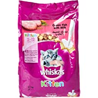 Whiskas Ocean Fish & Milk, Dry Food Junior, 2-12 months, 1.1kg