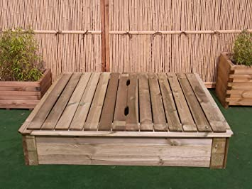 Fabulous BIHL Sandkasten Deckel 150 x 150 cm Holz Sandbox Sandkiste OR39