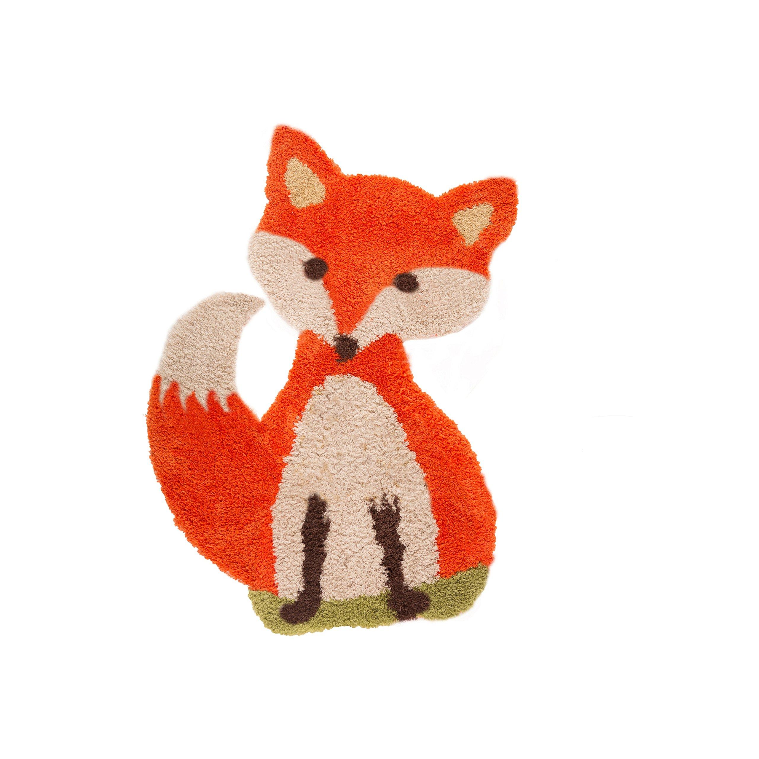 Flair Rugs Childrens/Kids Freddie Fox Floor Rug (23.5in x 35.5in) (Orange)