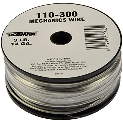 Dorman 110-300 Spool Mechanics Wire - 14 Gauge 3 Pound , 174 Piece: Automotive