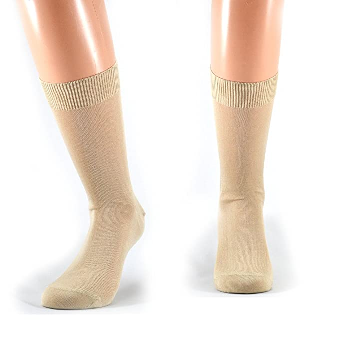 Fontana Calze - 12 pares de calcetines para hombre, corte 100% algodón, hilo de Escocia beige Talla única : Amazon.es: Ropa y accesorios