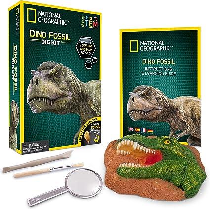 Amazon Com Juego Para Excavar De Dinosaurio National Geographic Toys Games