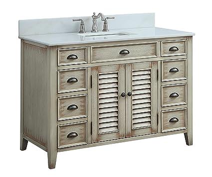 Genial 46u0026quot; Benton Collection Cottage Look Abbeville Bathroom Sink Vanity  Model ...