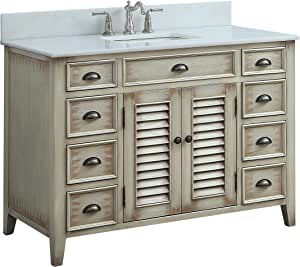 "46"" Benton Collection Cottage Look Abbeville Bathroom Sink Vanity Model CF-28325"