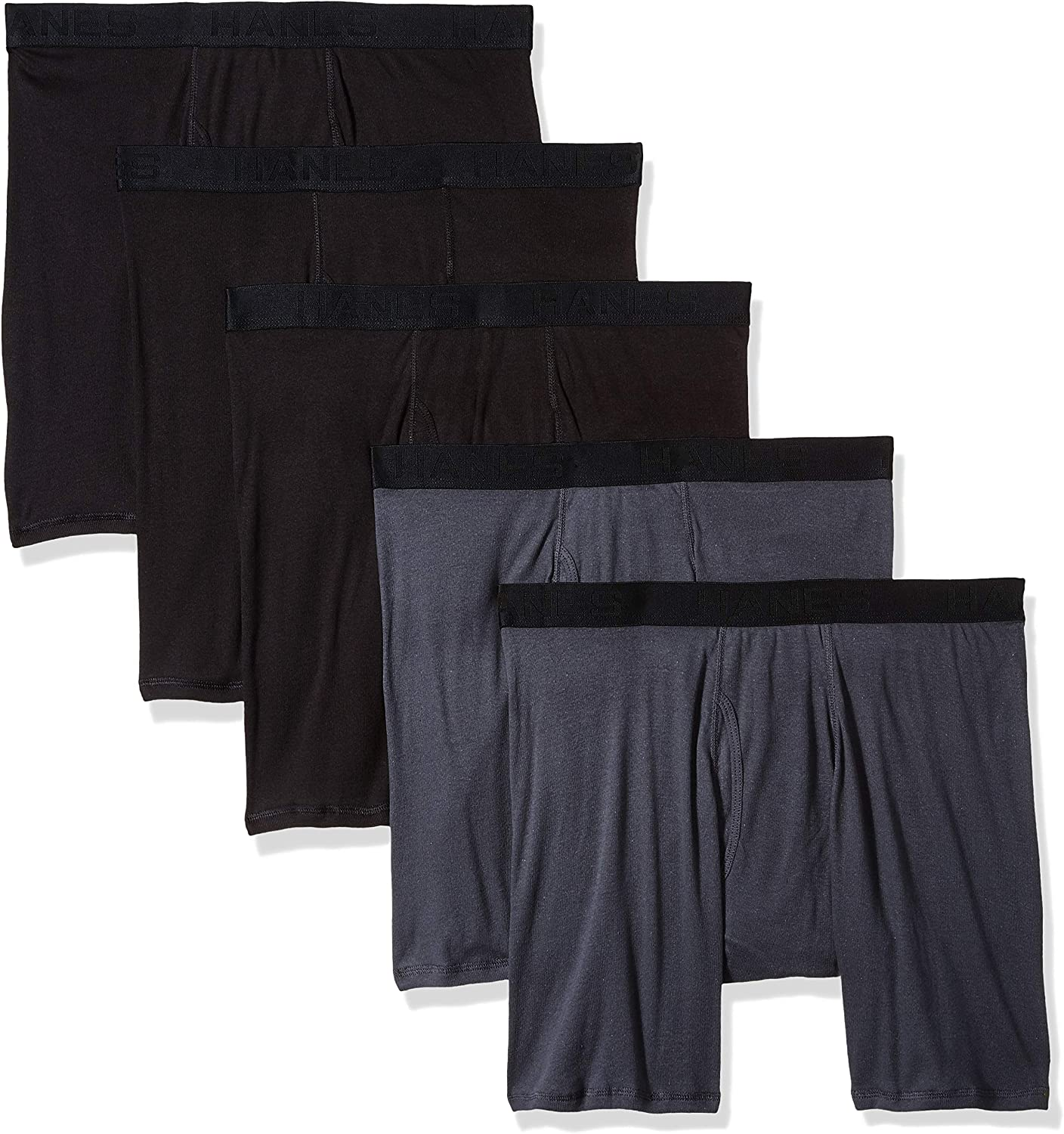 Hanes Ultimate Men's 5-Pack Fashion Boxer Briefs at  Men's Clothing store