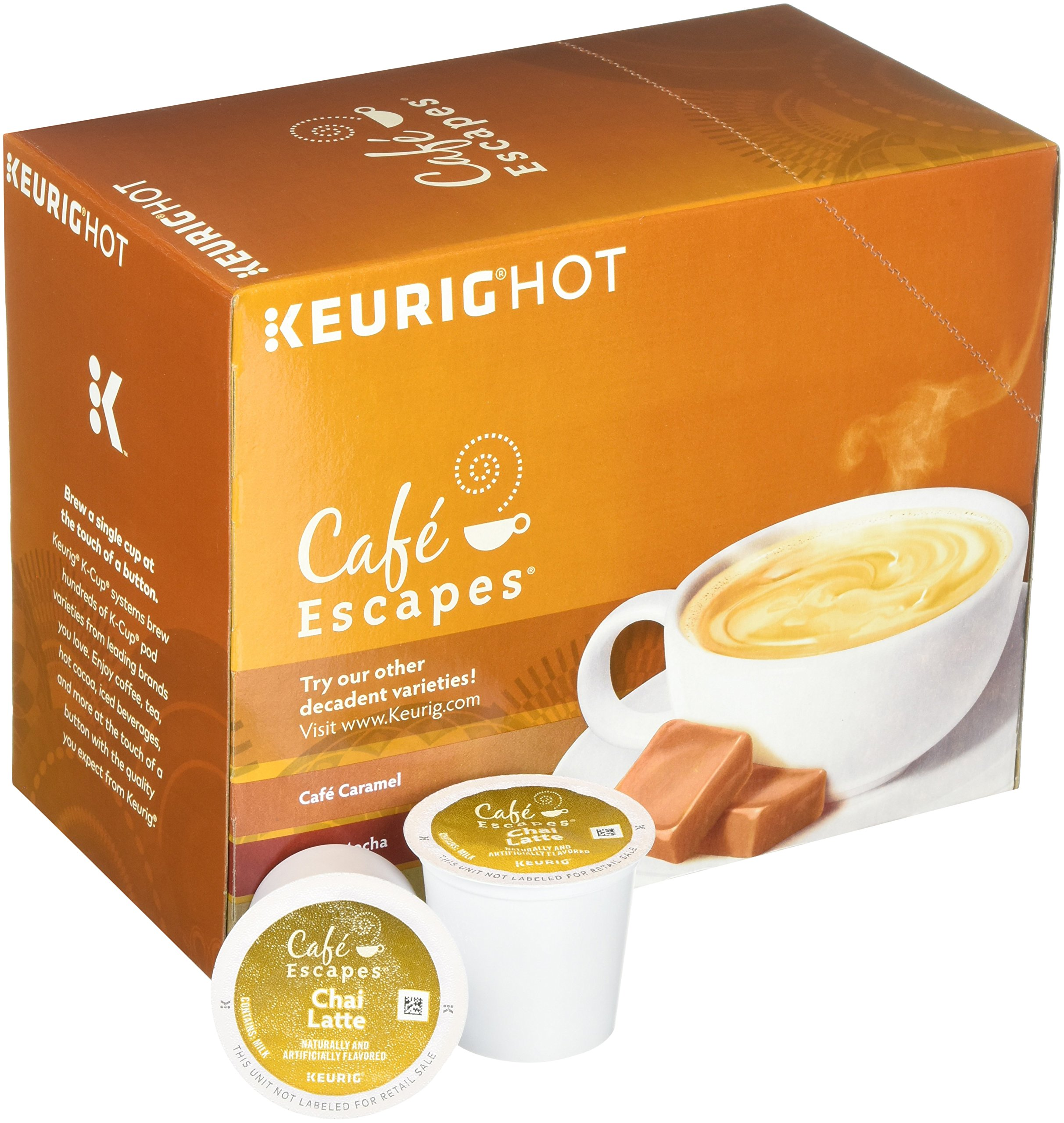 Cafe Escapes Chai Latte K-Cups, 11.7 oz, 96 Count by Café Escapes (Image #4)
