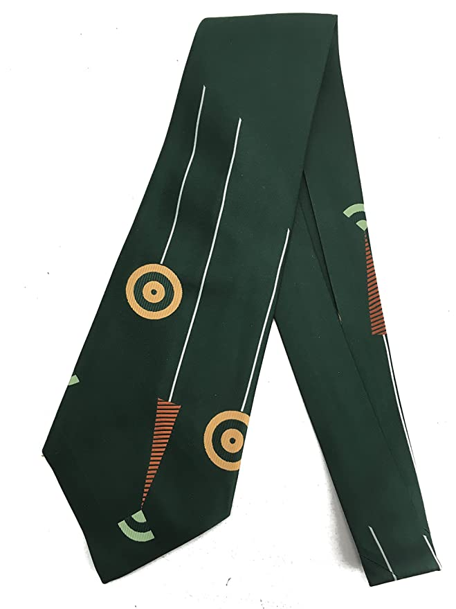 1960s Style Men's Clothing Target Abstract Geometry Tie - Vintage Jacquard Weave Wide Kipper Necktie $26.95 AT vintagedancer.com