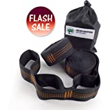++FLASH SALE++ Jungle Vines Hammock Tree Straps - No Stretch Suspension System Kit – Holds 650+ LBS & (26) Adjusting Loops – Light Camp Gear For Backpacking, Camping, Survival & Travel